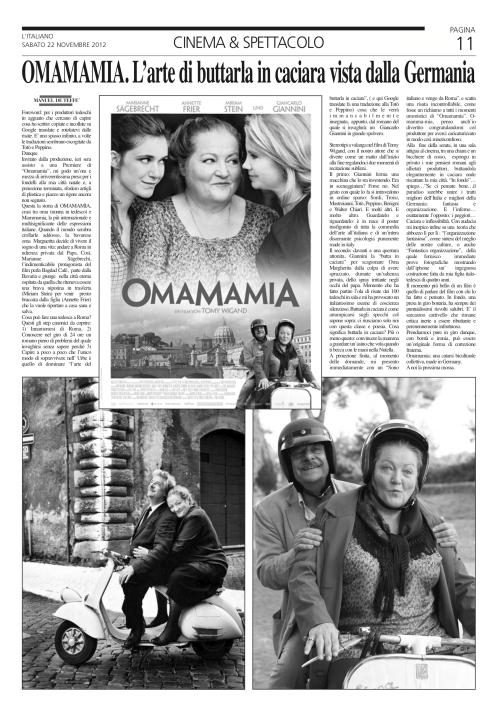 OMAMAMIA, articolo italiano
