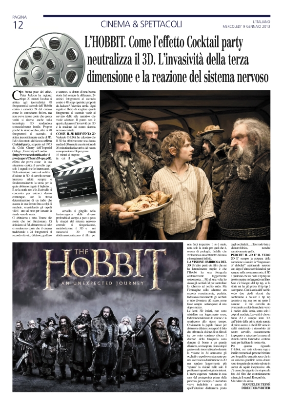 L'Hobbit. Come l'effetto cocktail party neutralizza il 3D